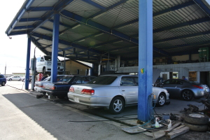 Toma's Garage Inspection Area